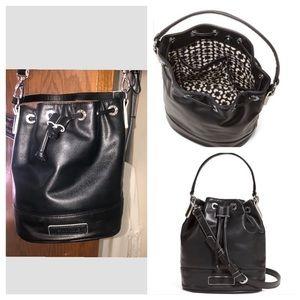 Vera Bradley Black Crossbody Bucket Bag